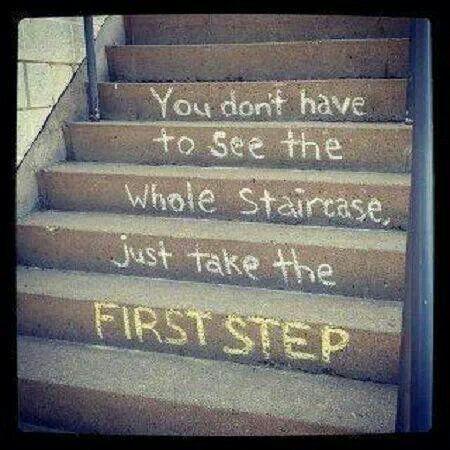 take one step